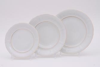 Набор тарелок 18 предметов (25см+23см+19см)  1139