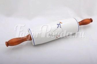 Скалка для лапши с деревянной ручкой