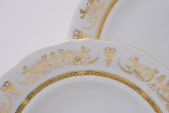 Набор тарелок 18 предметов (25см+23см+19см)  1373